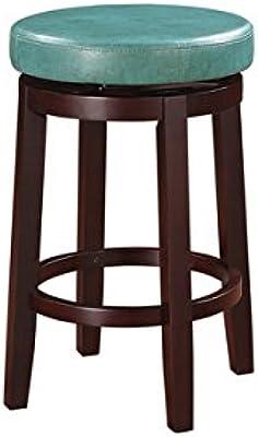Amazon Com Linon 98352tea 01 Kd Maya Counter Brown Stool 24