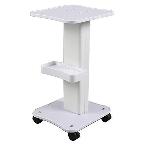 Portable Cart - GR/Soporte pequeño de Madera Blanco de la Burbuja de la Carretilla de la Belleza, Carro médico del Pedestal del Equipo del Balneario con la Bandeja