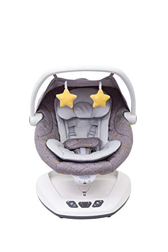 Graco Move With Me Soother with Canopy, 5-Speed Settings with Vibration, Stargazer