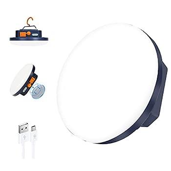 Lanterne de Camping Portable 9900mAh lumières de Tente,Rechargeable, IP65 Résistant à l'eau LED Lampe, 3 Modes d'Éclairage, Travaux, Chasse, Pêche, Randonnée, les Coupures de Courant à la Maison (30)