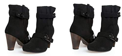 Scholl Tene F23125 Damen Schuhe Stiefeletten Boots Schwarz (Black 1004) 410 Veloursleder, 38 EU, UK5 (38 EU)