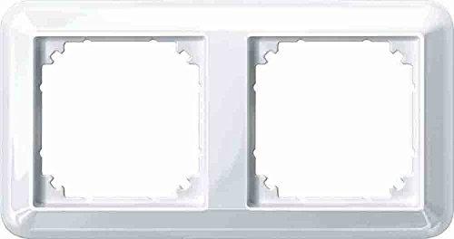 Preisvergleich Produktbild Merten 388219 Atelier-M-Rahmen,  2fach,  polarweiß glänzend