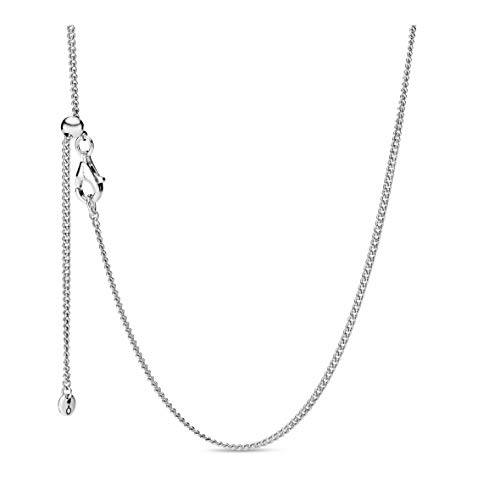 Pandora Jewelry Curb Chain Sterling Silver Necklace, 23.6'