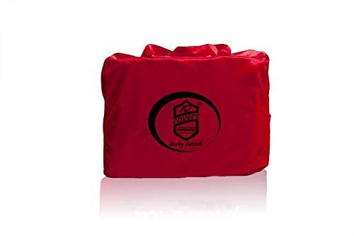 AMS Vollgarage Mikrokontur® Rot mit Spiegeltaschen für VW Jetta 2 1984-1992, schützende Autoabdeckung mit Perfekter Passform, hochwertige Abdeckplane als praktische Auto-Vollgarage