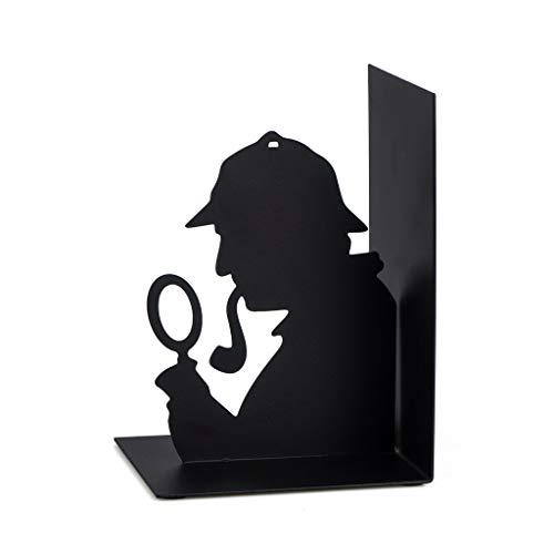 Balvi - Sherlock zwarte boekensteun van metaal. Origineel design