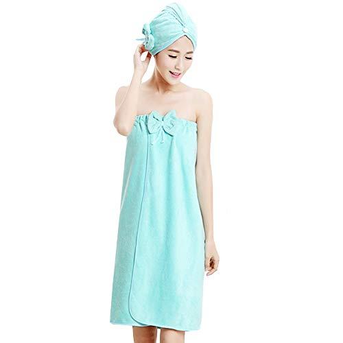 mega Women Microfiber Bowknot Bath Towel Wrap Hair Tube Set Strapless Cover...