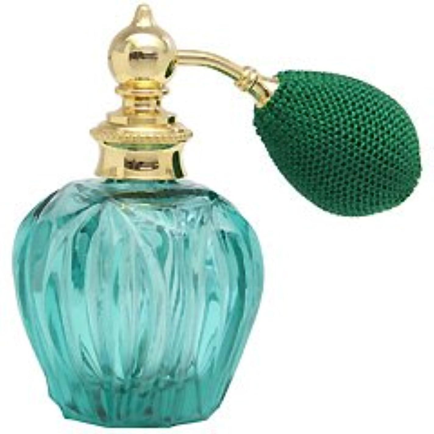 カラフル クリスタルアトマイザー ドイツ製 クリスタル香水瓶 32079 (クリスタル グリーン) 45ml 【ヒロセ アトマイザー】