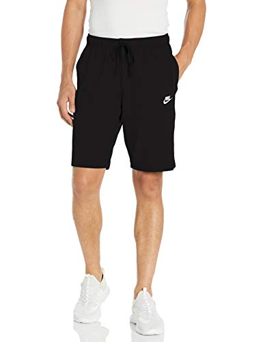 Nike Men's Sportswear Club Short Jersey, Black/White, Large