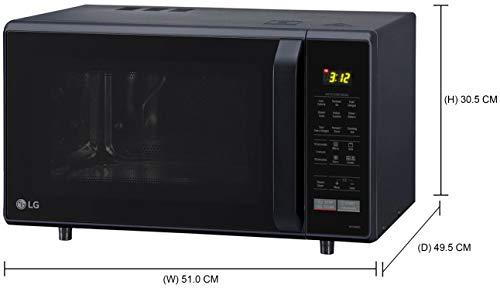 LG 28 L Convection Microwave Oven (MC2846BG, Black)