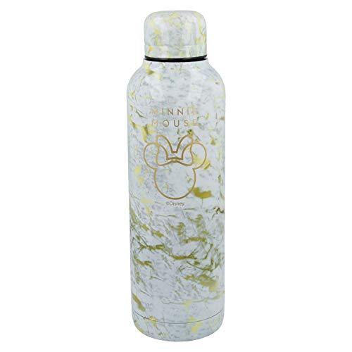 Stor Minnie Mouse (Disney) | Botella de Agua Reutilizable de Acero Inoxidable | Cantimplora Termo con Doble Aislamiento para 12 Horas de Bebida Caliente y 18 Horas de Bebida Fría - Libre BPA - 515 ml
