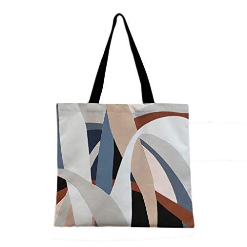 WDX Umweltschutztasche, Retro, niedlich, eine Schulter Leinen, Stoff, Umweltschutz, baumwolle, C, 35*40cm