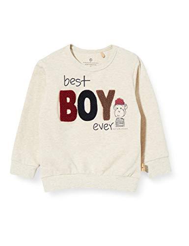 Bellybutton mother nature & me Baby-Jungen Sweatshirt T-Shirt, Cotton beige Melange|beige, 74
