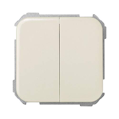 Simon 31398-31 - Interruptor doble, color Marfil (Ivory)