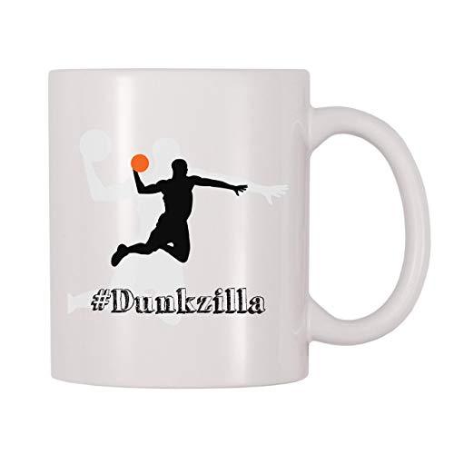 N\A Taza de Hashtag Dunkzilla Baloncesto Pelota de Tiro Aros Taza temática Regalo para Jugadores de Baloncesto Compañeros de Equipo Entrenadores Fans Amantes Dunkers