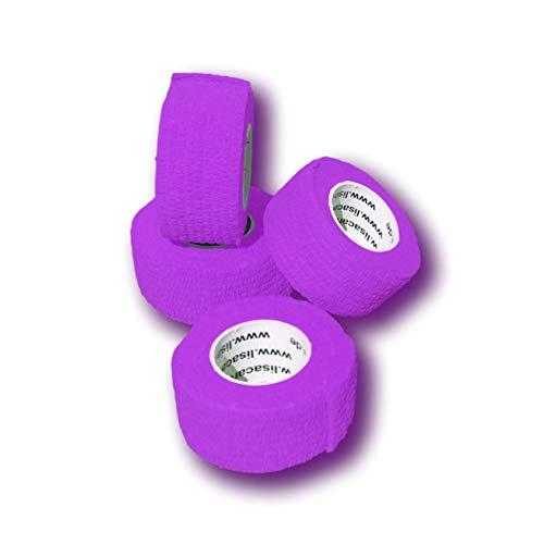 LisaCare Fingerpflaster selbsthaftend - elastisches, wasserfestes, staub- fett- und schmutzabweisendes Pflaster - LILA - 4 Rollen á 2,5cm x 4,5m