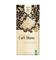 GEPA Bio Grand Chocolat Café Blanc - Weiße Schokolade - 1 Karton (10 x 100g)