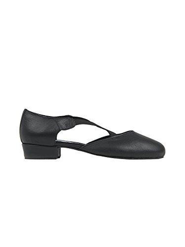 RUMPF Griechische Sandale Damen Tanzschuhe Dance Sneaker Charakterschuhe, Schwarz, 38 EU