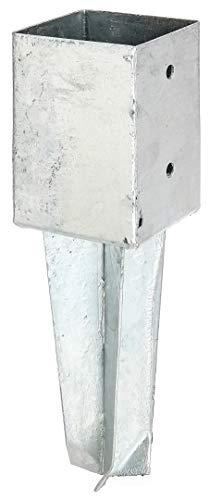 GAH-Alberts 211868 Bodenhülse | für Vierkantholzpfosten, zum Einschlagen | feuerverzinkt | 91 x 91 mm