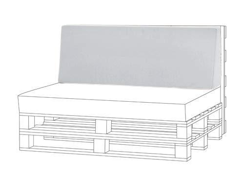 Shopisfy Outdoor Garden Pallet Furniture Seating Corner Sofa - Back Cushion Large Grey