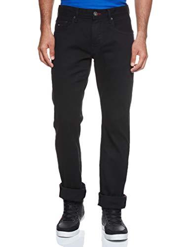 Tommy Hilfiger Herren CORE DENTON STRAIGHT JEAN Straight Jeans, Schwarz (Clean Black 919), W35/L36