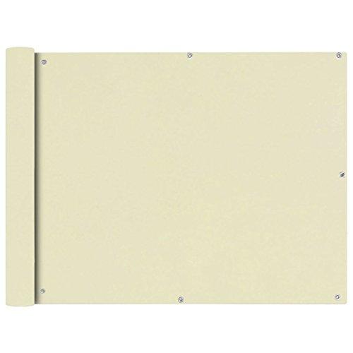 Estink Paravent Balcone, wasserdicht, Oxford-Stoff, UV-Schutz, 90 x 600 cm, cremefarben