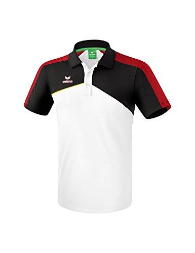 Erima 1111808 Polo Enfant Blanc/Noir/Rouge/Jaune FR : XXS (Taille Fabricant : 140)