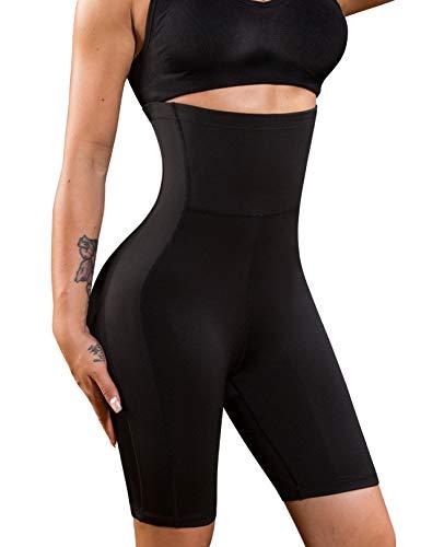 Nebility Women Waist Trainer Shapewear High Waist Thigh Slimmer Tummy Control Butt Lifter Panty (3XL, Black)