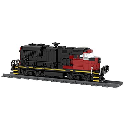 HARTI Juego de bloques de construcción de modelo de tren 697 piezas, locomotora diesel creativa del tren de carga ensamblado de juguetes de construcción 3D Puzzle Set Juguetes para adultos