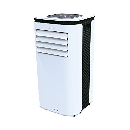 IKOHS SILKAIR Connect - Aire Acondicionado Portátil 9000BTU, 2270 Frigorías, 3 Funciones, Deshumidificador hasta 24 L/día, Mando a Distancia, Muy Silencioso, Filtro Lavable, WiFi