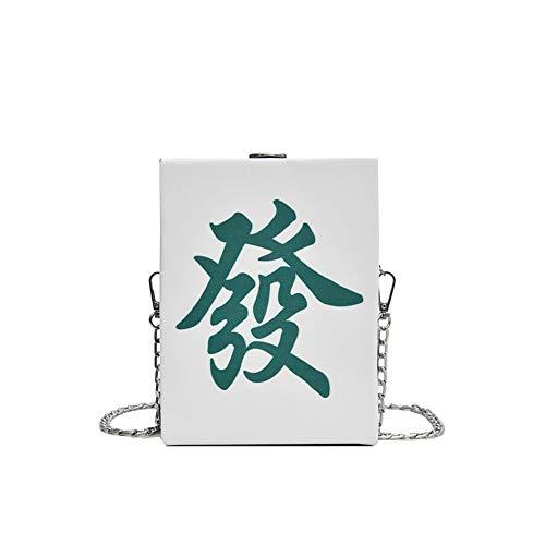 TSQ Pu - Bolsa de metal impermeable para hombre, diseño creativo, tela cómoda, correa de hombro desmontable para fácil y duradero