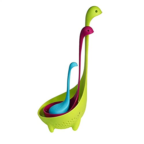 Loch Ness Ladles - Family   BPA Free Colander Tea Infuser Spoon for Kitchen Gifts Set