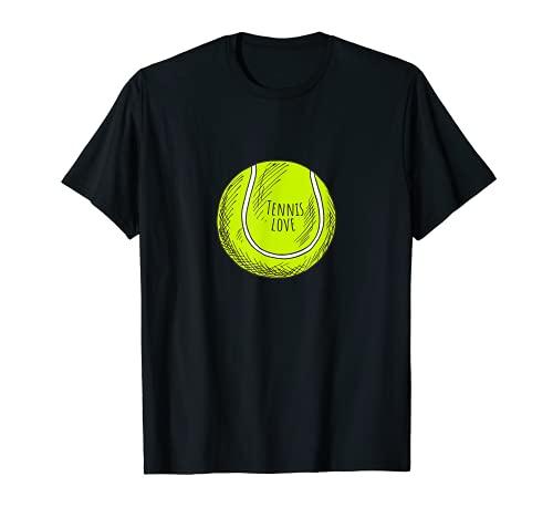 Lindo dibujo de amor de una pelota de tenis Camiseta