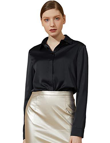 Womens Silk Dress Shirt