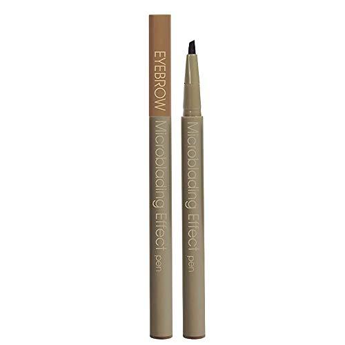 Langlebiger Microblading-Effektstift, 3 Farben Langlebiger wasserdichter, wischfester Augenbrauenstift Erzeugt mühelos tägliches Make-up für natürliche Augenbrauen (grau-braun)