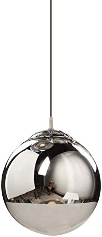 Pendelleuchten LED Ball Glas Kronleuchter Nordic Einfache Wohnzimmer Schlafzimmer Esszimmer Eisen Kunst Anhnger Deckenleuchten, E27 YDYG (Gre   25cm)