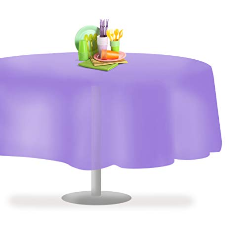 Lavender 6 Pack Premium Disposable Plastic Tablecloth 54 Inch. x 108 Inch. Rectangle Table Cover by Grandipity