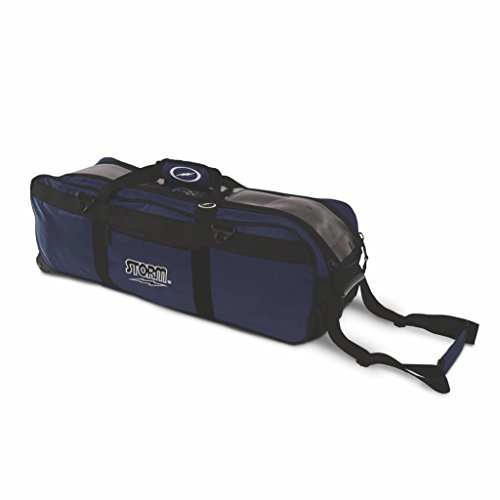 Storm Tournament 3 Ball Tote Roller Bowling Bag- No Pockets- Navy ()
