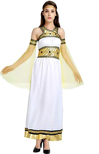 Lovelegis Traje rabe - musulmn - odalisca - Princesa para Mujer nia - Disfraz - Carnaval - Halloween - Cosplay - Color Blanco - Talla nica