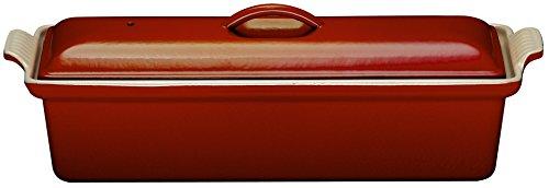 ルクルーゼ テリーヌ レクタ 28cm 鋳物 ホーロー 耐熱容器 チェリーレッド 2524-28-06