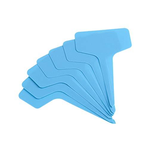 Hemoton Plastic Plant T Type Tags Kwekerij Labels Waterdicht Plantmarker Zaailing Lade Potten Markeer Gereedschap 100St Blauw