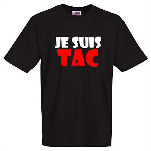stylx design T-Shirt Noir Je suis TAC Tshirt de Bonne qualité. pour la fête des pères, fêtes des mères, Saint Valentin, Anniversaire,