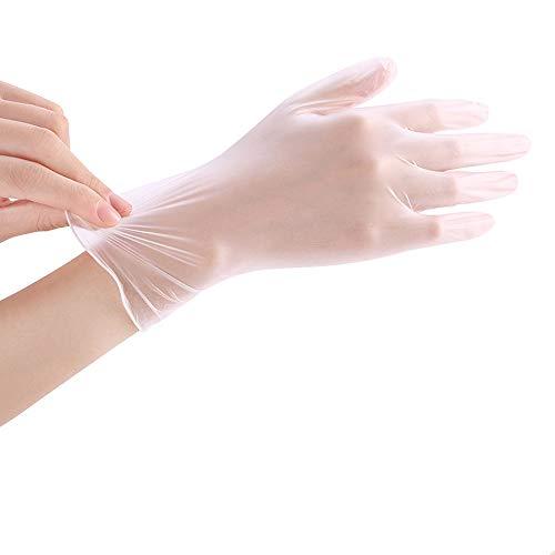 Gants jetables, gants en PVC, gants de vaisselle 100 gants en film pour la cuisine de beauté, nouveau