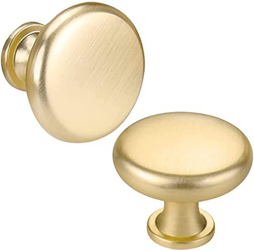 goldenwarm 10 pomelli dorati per mobili in ottone -LS5551GD, maniglie dorate, maniglie per mobili da cucina, maniglie per mobili della cucina, maniglie per porte e mobili