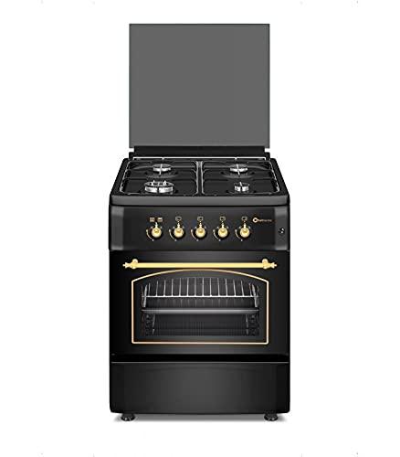 Cocina SolThermic HORNO ELÉCTRICO con GRILL y TURBO F6S40E5RB de Color Negro...
