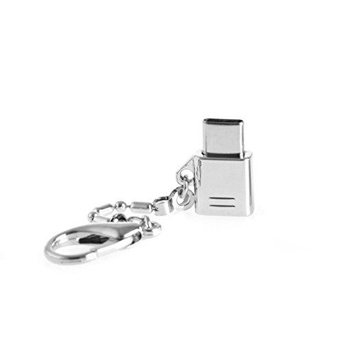 luosh USB Typ C Adapter, Metall USB-C 3.1 Typ C Stecker auf Micro USB 2.0 Buchse Konverter Anschluss