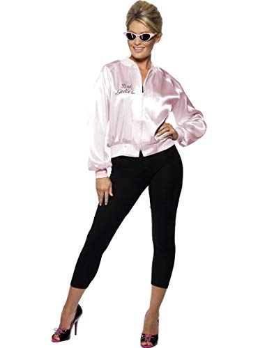Funidelia | Chaqueta de Pink Ladies - Disfraz Grease Oficial para Mujer Talla M Aos 50: Rock & Roll, Sandy, Grease, Pelculas & Series - Color: Rosa - Licencia: 100% Oficial