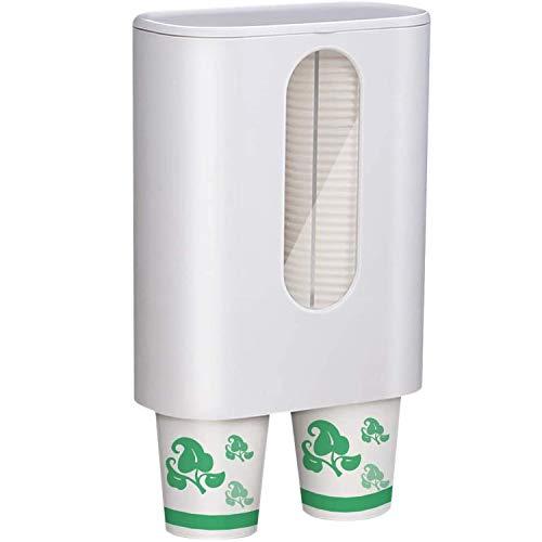 GY-Lmap Dispensador de la Taza, refrigerador de Agua Tipo de Taza Soporte de Taza Cabe Cono o Tazas de Fondo Plano, Pasta de Pasta o Montaje en la Pared de la Placa de Tornillo