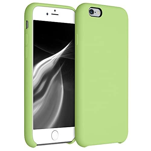 kwmobile Carcasa Compatible con Apple iPhone 6 / 6S - Funda de Silicona para móvil - Cover Trasero en Verde Suave