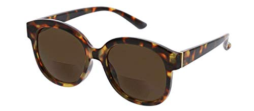 Peepers by PeeperSpecs Women's Catalina Hideaway Square Bifocal Reading Sunglasses, Tortoise, 52 mm + 3