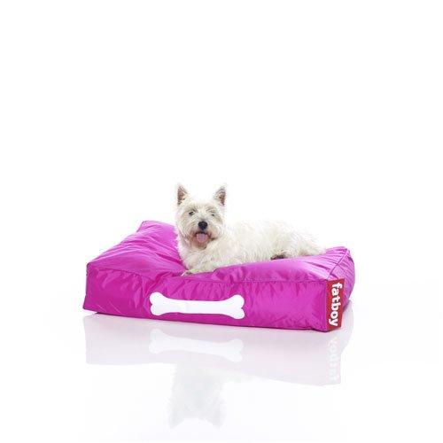 Fatboy® Doggielounge Small pink | Kleines Nylon-Hundekissen | Abwaschbares Hundebett für kleine Hunde | 60 x 80 x 15 cm